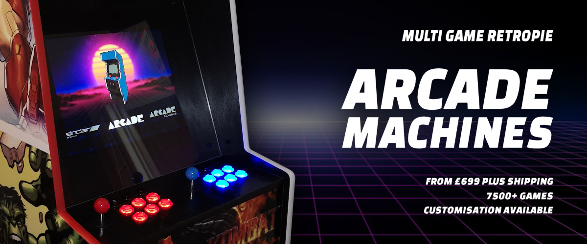 Multi Game Arcade Machines From GBP699 Plus Shipping