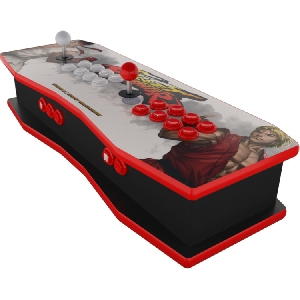 The Retrocade ALPHA Pro Street Fighter White Edition